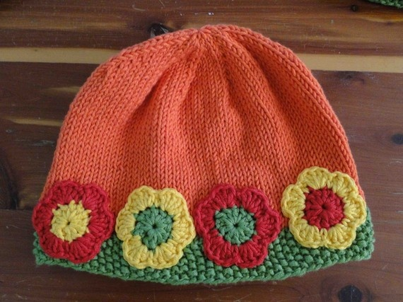 Hand crochet womens hat