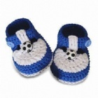 Hand crochet baby shoes